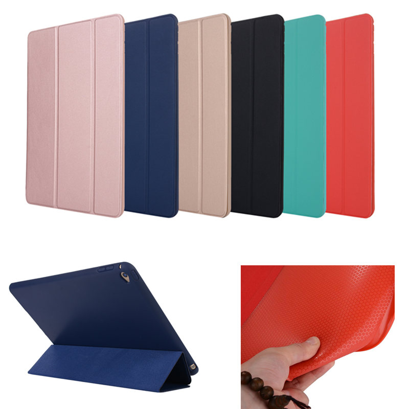 Nice cover for apple ipad air 2 case sleeve thin Soft tpu silicone full protective+magnetic smart PU leather skin For Ipad Air2 air2 01 tpu protective tpu back case for ipad air 2 green
