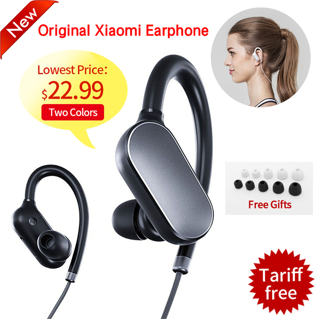 Оригинал xiaomi mi спорт bluetooth 4.1 наушники музыка наушники mic ipx4 водонепроницаемый беспроводная гарнитура для xiaomi mi6 мобильного телефона
