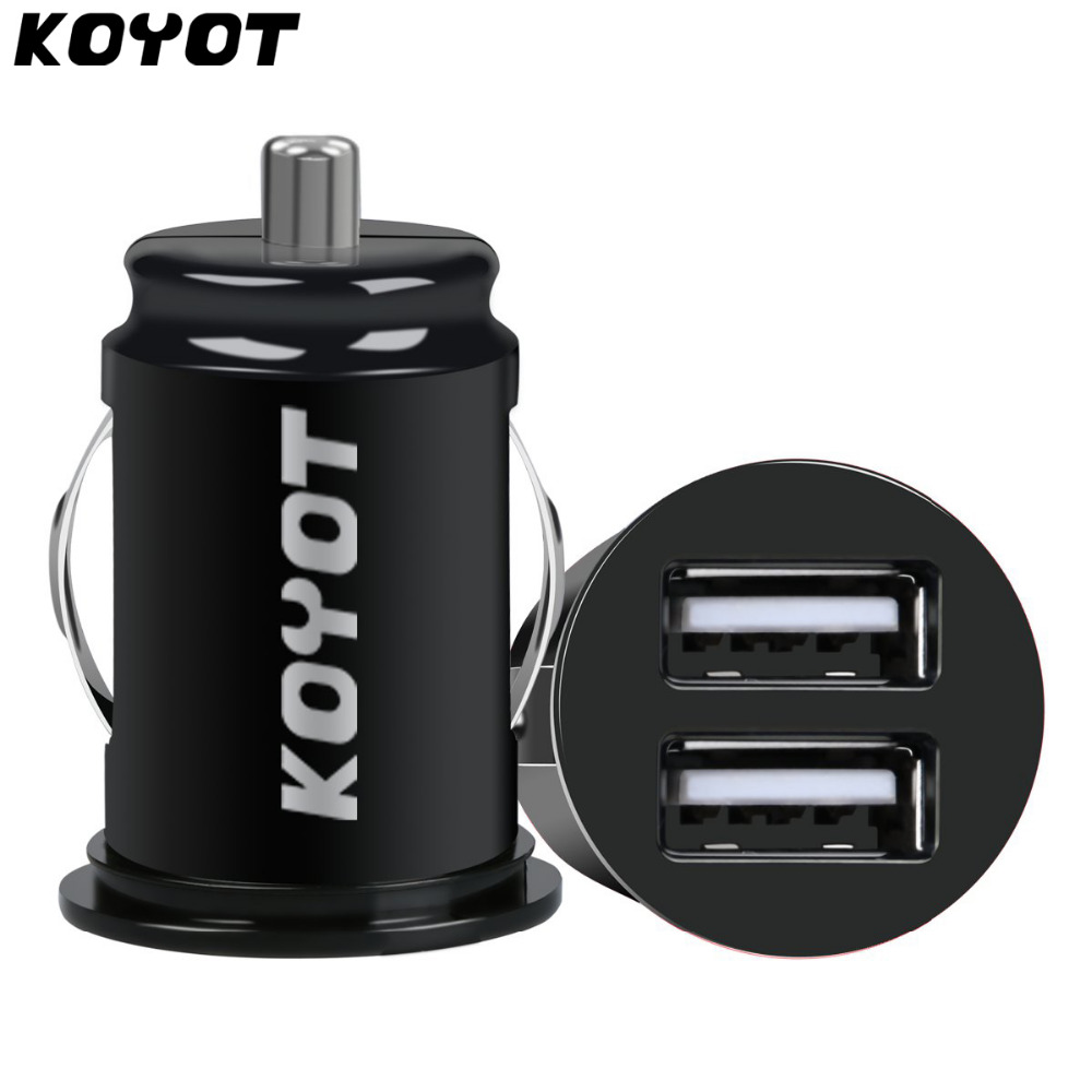 KOYOT Mini Car Truck Dual 2 Port USB Mini Charger Adapter for font b iPhone b