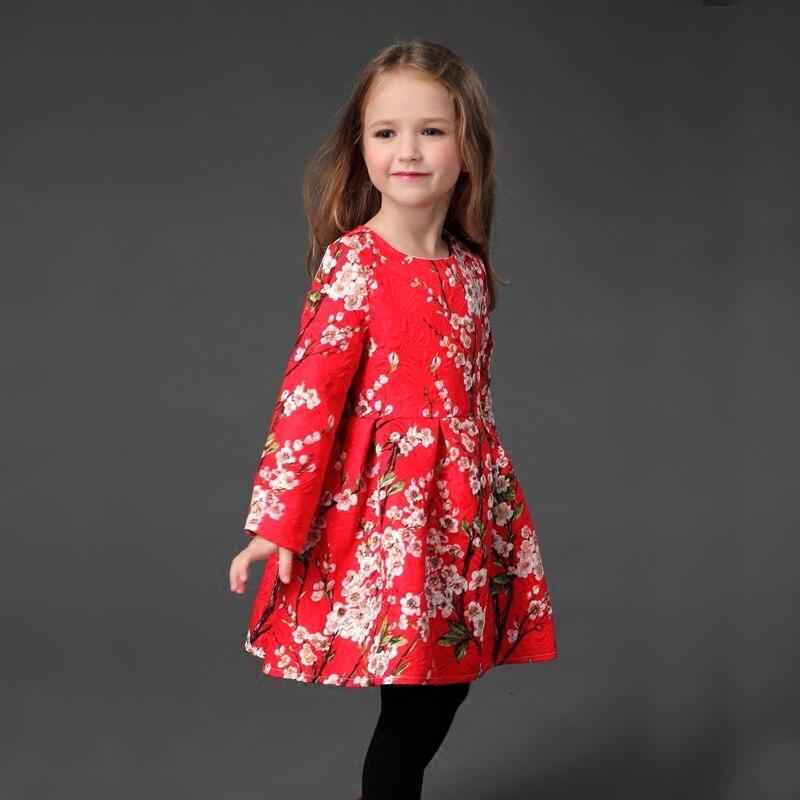 Hiver automne famille look vêtements floral épais flano doublure robe infantile enfants fille maman formelle fête mère et fille robe