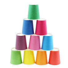 10pcs/Set Stacking Toys Paper Cups DIY Art Decoration Baby Shower Kids Birthday Wedding Picnic Party Disposable Tableware Supply(China)