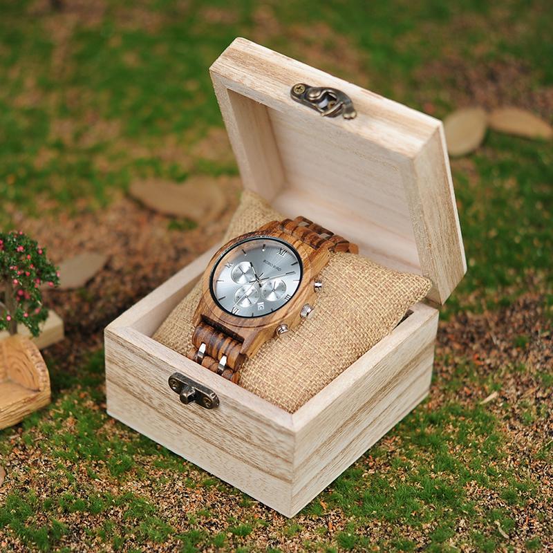 Relojes de Madera con Banda Metálica 14