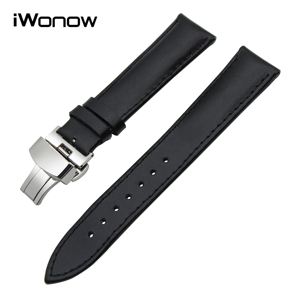 20mm Genuine Leather Watchband for Garmin Vivomove Huawei Watch 2 (Sport) Withings Activite Steel HR 40mm Wrist Band Strap Black 18mm genuine leather watchband for withings activite steel pop smart watch band wrist strap plain grain belt bracelet tool