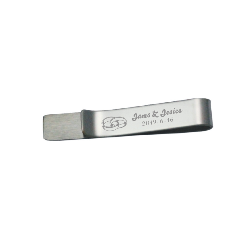 Personalized tie clips for men 1pc custom free with your name in any font shipping +free design logo engraved