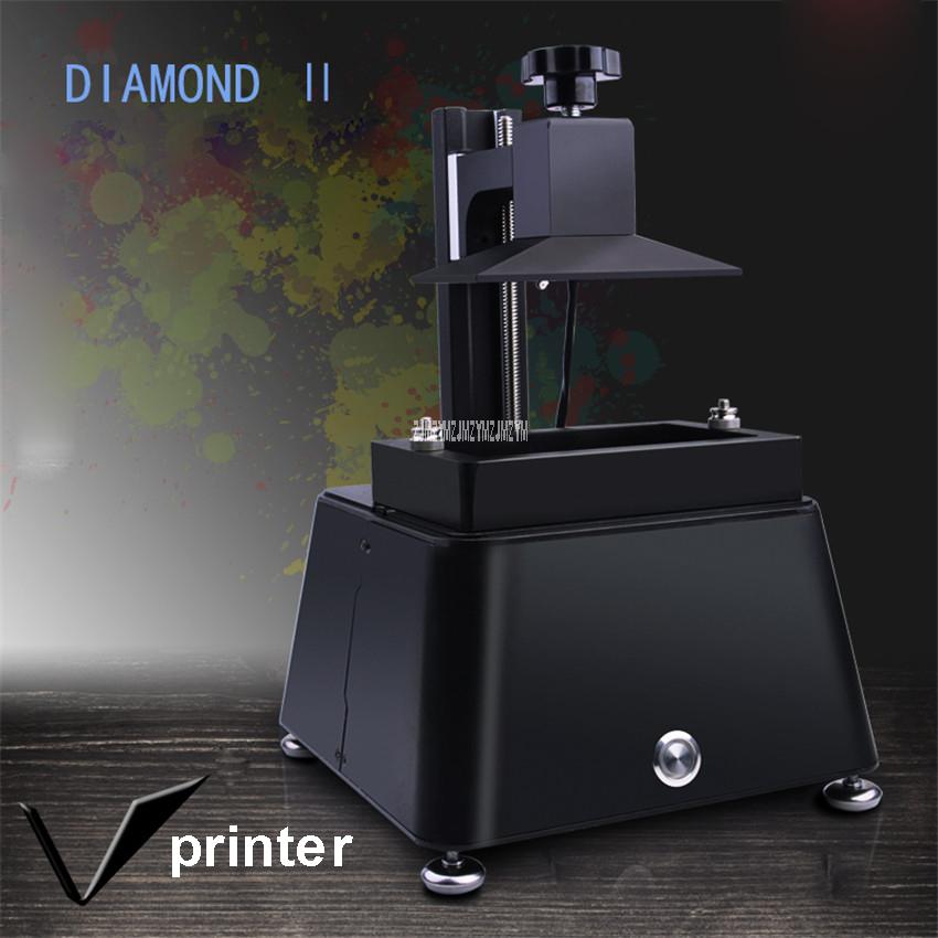 100-250V DIAMOND 2 New 2k LCD Printer , DLP Printer. SLA  Printer For Destist 120 * 68 * 130mm Print Size 18W Accuracy 0.03mm