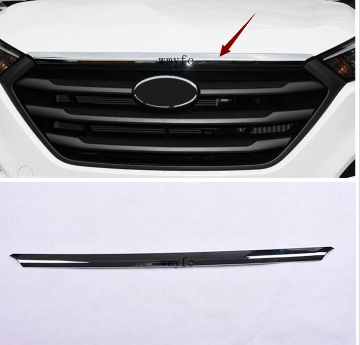 FIT FOR HYUNDAI TUCSON TL 2015 2016 2017 CHROME FRONT HOOD BONNET GRILL LIP MOLDING COVER TRIM GRILLE BAR GARNISH MESH STYLINGFIT FOR HYUNDAI TUCSON TL 2015 2016 2017 CHROME FRONT HOOD BONNET GRILL LIP MOLDING COVER TRIM GRILLE BAR GARNISH MESH STYLING