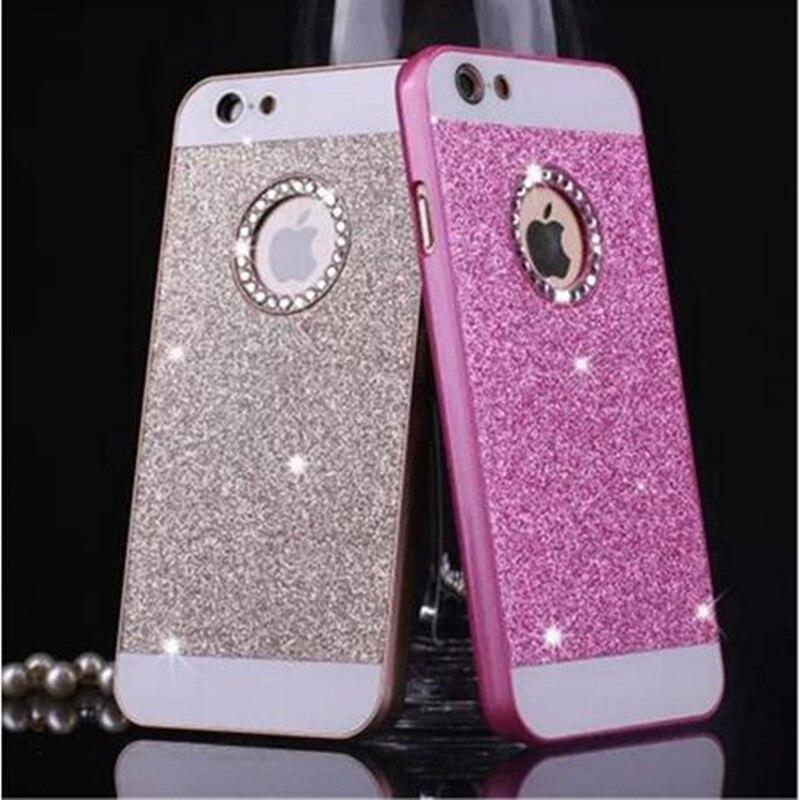 Rhinestone de lujo case para apple iphone 5s 5 se 6 6 s 7 plus 4S glitter cubier