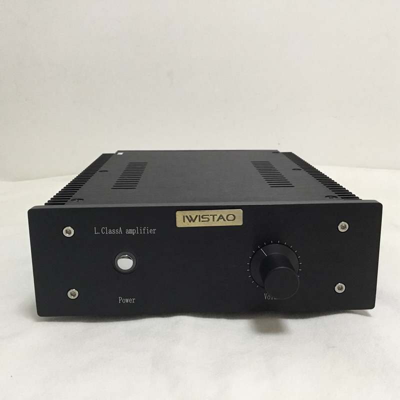 IWISTAO HIFI Power Amplifier 2 x16W Class A FET Single-ended PassAm Whole Aluminum Casing Desktop High Quality iwistao hifi fet tube headphone amplifier separation parts designed for impedance 8 120 ohm combine 3w power amplifier