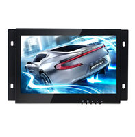 ZGYNK 7 Inch Open Frame Industrial Monitor Metal Monitor With VGA AV BNC Monitor