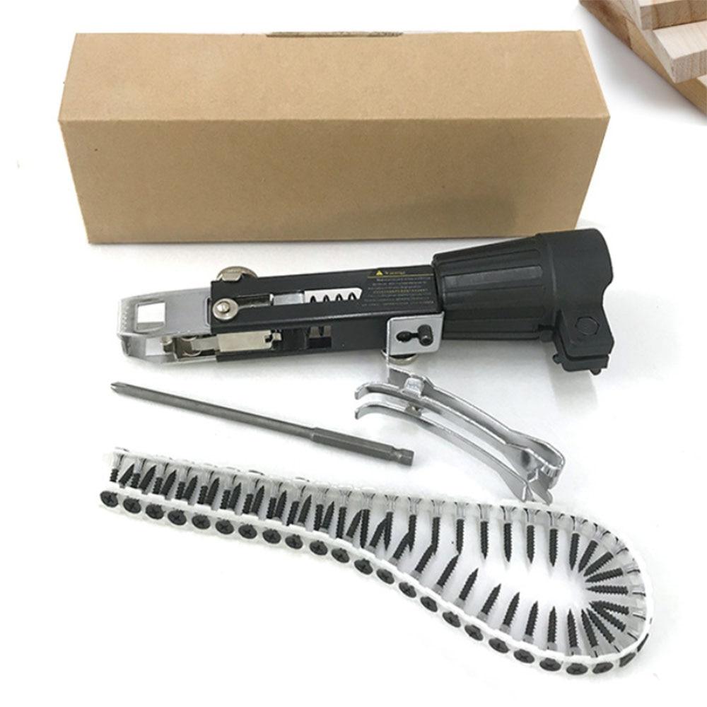 Новая автоматическая цепь для пистолета для ногтей, адаптер для винтового пистолета, кронштейн для гвоздя, набор для электрической дрели, деревообрабатывающий инструмент|Наборы ручных инструментов|   | АлиЭкспресс