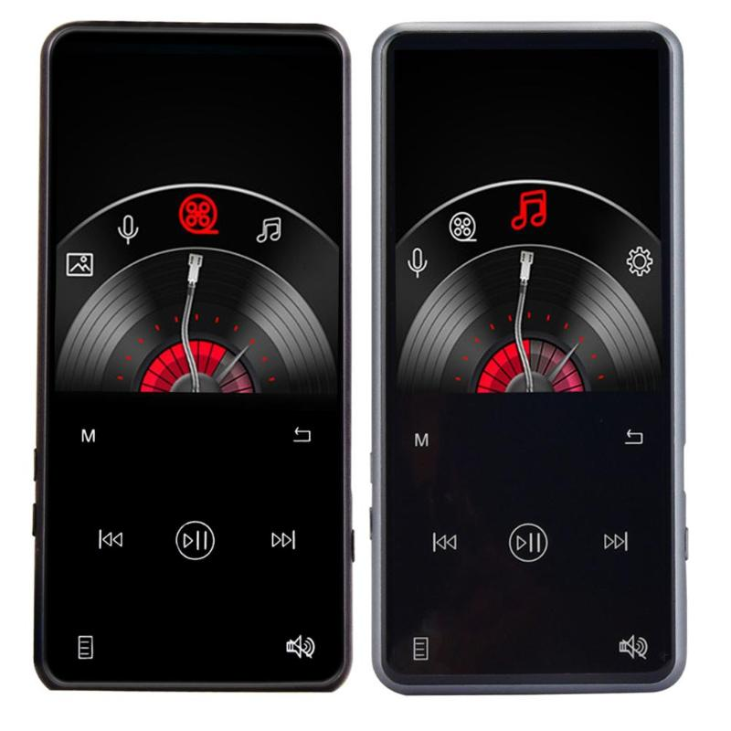 Audio 16GB MP3 Player Bluetooth 4.1 2.4 Inch TFT Screen Metal Touch Key HiFi Sport Mini Walkman Speaker FM Radio Pen цены
