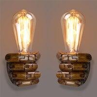 Vintage Right Left Hand Night Wall Light Lamp E27 Edison Bulbs Bar Coffee Shop Loft Study Foyer Dining Room Home Decoration