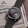 MEGIR Хронограф мужские Кварцевые часы Из Нержавеющей Стали Сетка Группа Золотые Часы Тонкий Мужчины Часы многофункциональный Спортивный наручные часы