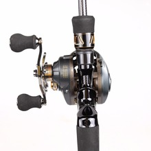 2.1m Fishing Rod Combo 46T Carbon Rod Baitcasting Fishing Rod 2 Sections Fishing Rod Set Red Bait Casting Reel