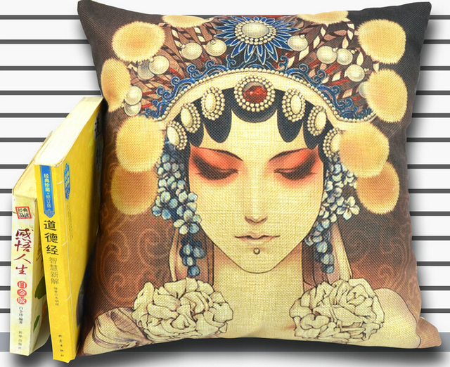 Down And Feather Cushions For Sofa Car 45 45cm More Full Padding Chinese Opera
