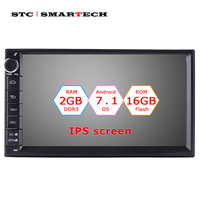 SMARTECH 2din Android 7.1 Car Radio GPS Navigation Autoradio System 7 inch IPS screen Quad Core 2GB RAM Support OBD DVR DAB RDS