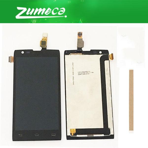 D'origine Qualité 4.3 pouce Pour Philips Xenium w6500 LCD Écran Affichage + Écran Tactile Digitizer Assemblée Noir Couleur Avec du Ruban Adhésif