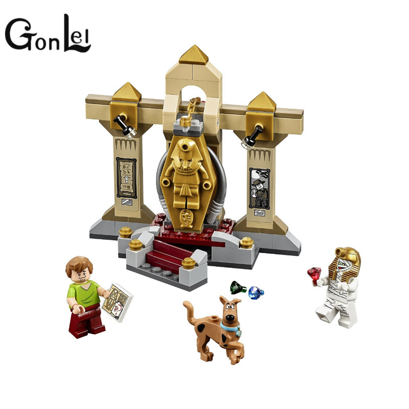 GonLeI BELA Scooby-Doo 10428 Mummy Museum stery Building Block Model Kits Scooby Doo Marveled Toys Legoingly bela scooby doo haunted lighthouse building block model kits scooby doo marvel toys compatible legoe