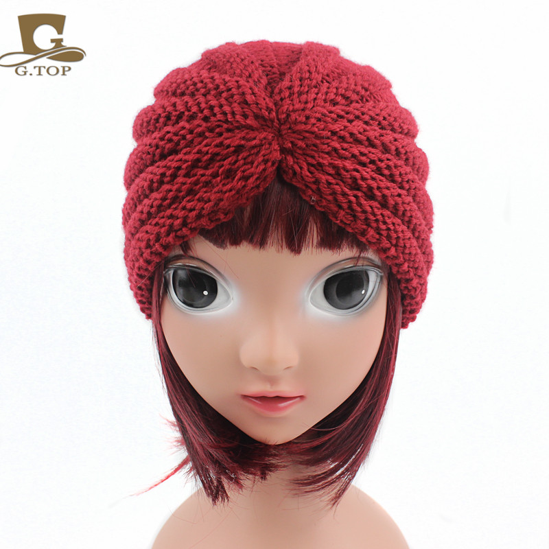 8bb949c754a New Winter kids handmade beanie Head Cover Up hat Knit Turban-in Skullies    Beanies from Apparel Accessories on Aliexpress.com