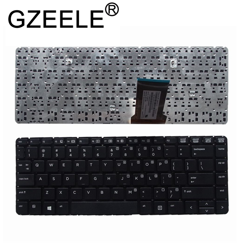 GZEELE New English US Keyboard For HP ProBook 430 G1 Keyboard Black