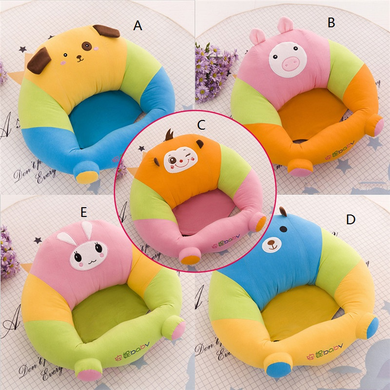 Baby Seat Learning Chair Infant Safety Sofa Seat Baby Chair Toddler Nest Puff Seat Skin Upscale Children Cover Surpport Seat Sof