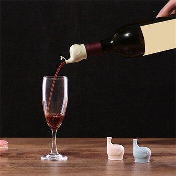 Creative Elephant vin verseur bouchon de bouteille boisson verseur bec pour Bar cuisine outil liège pour Bar à vin outil F25