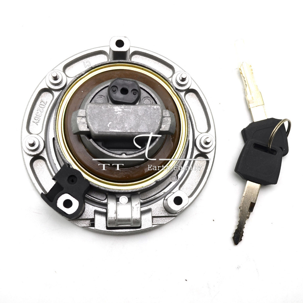 Motorcycle Fuel Gas Tank Cap Cover Lock + 2pcs Keys For Honda BROS 400 600 650  Not Include Ignition Seat Handle Locks