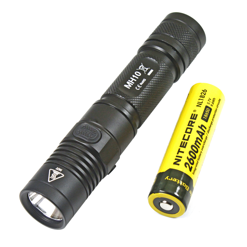 NITECORE MH10 1000lm U2 LED Outdoor rechargeable USB charge 18650 battery цена