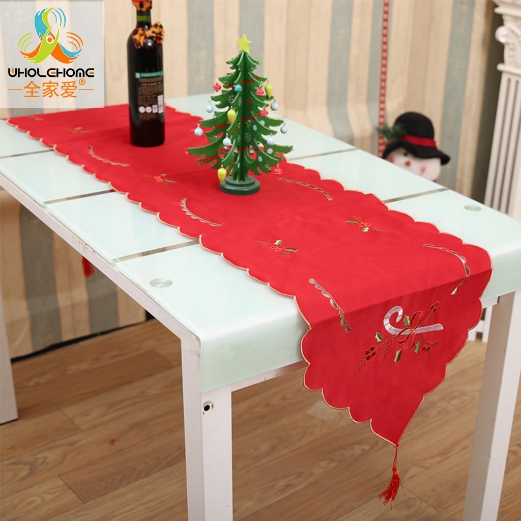 Christmas Gift Table Cloth Runner New Year Festival Santa ...