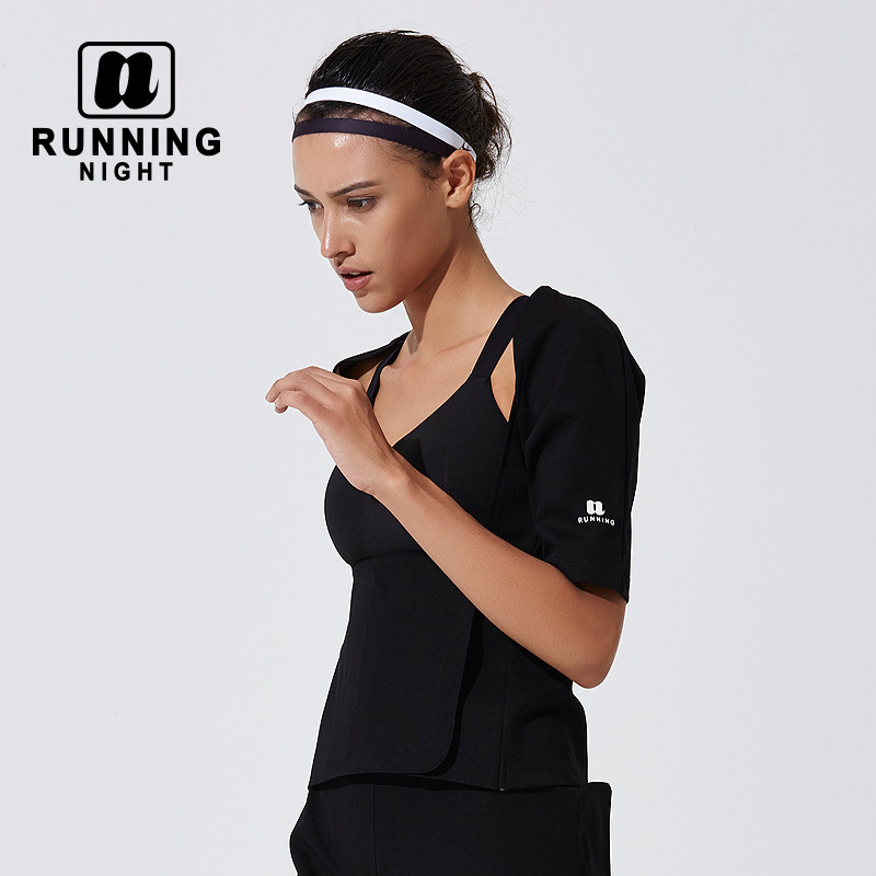 Hot Sweat Sports Waistcoat 5 Times More Sweat Running Suit T-shirt ...