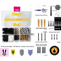 High Cost Performance Electronic Darts Accessory Set Nylon Soft Tip Aluminum Nylon Shaft Brass Barrel Flight