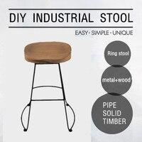 Винтаж промышленные барные стулья Американский Стиль мебель счетчик табуреты Современная барная стойка stoolwith деревянные барные стулья