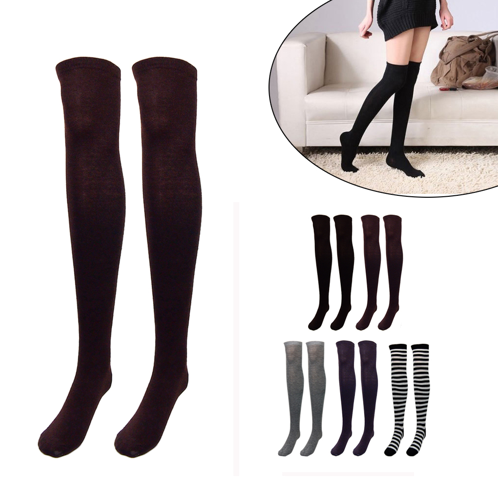 f35e8796c Aliexpress.com   Buy Girls Over Knee Socks Thigh High Thick Stripe Stocking  High Quality Hot Sale from Reliable Stockings suppliers on Beautiful Trend  ...