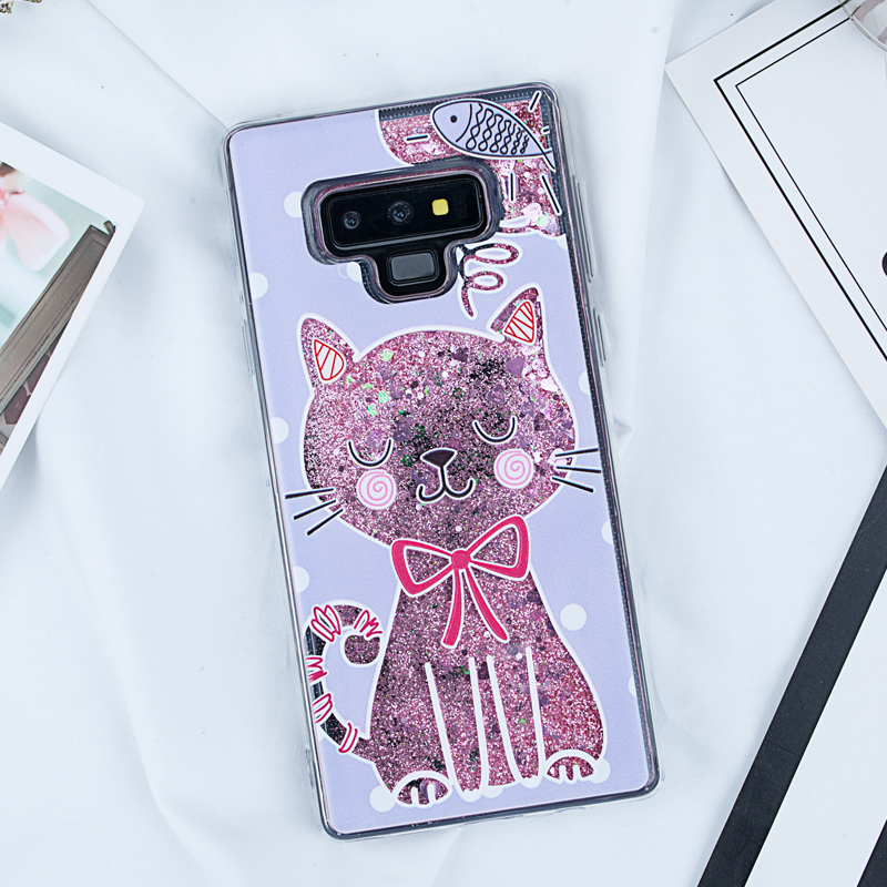 Image 5 - Liquid Quicksand Glitter Case for Samsung Galaxy Note 9 A5 2017 S8 S9 Plus J5 J7 J3 2016 A3 A7 2017 S7 Edge A8 Plus 2018 Covers-in Fitted Cases from Cellphones & Telecommunications