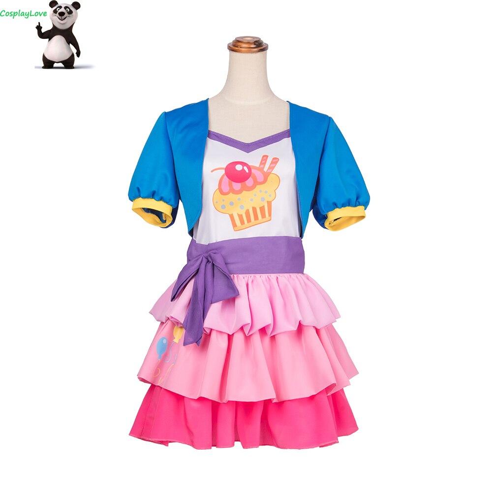 CosplayLove mon petit poney: l'amitié est magique Pinkie Pie Cosplay Costume sur mesure pour noël Halloween CosplayLove