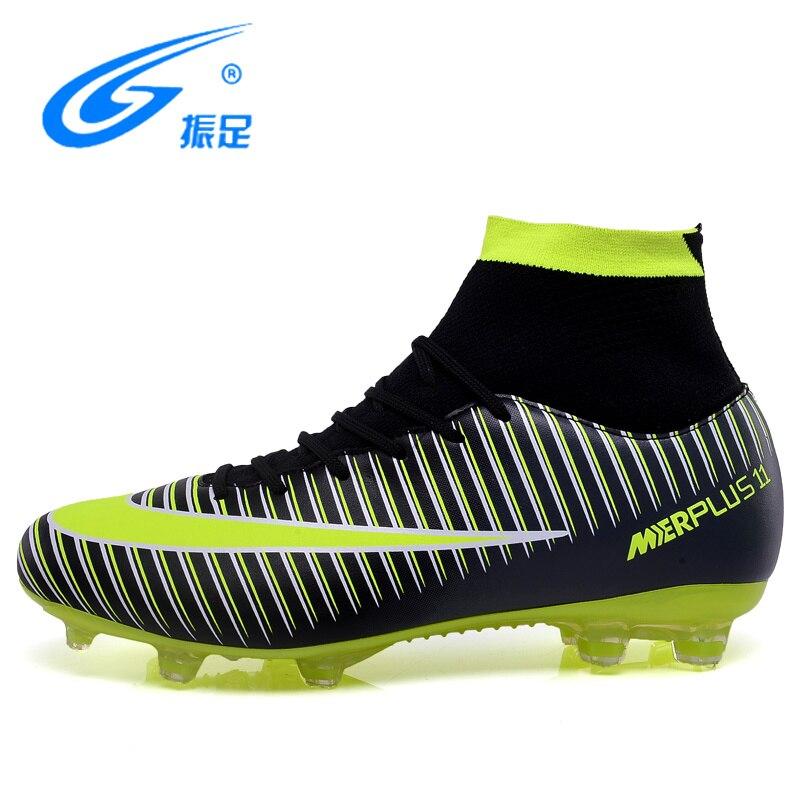 ZHENZU 2018 Hohe Stollen Fußball Schuhe für Männer Fußball Original mit Socken Professionelle Fußball Boot FUßBALL MIT STIEFELETTEN