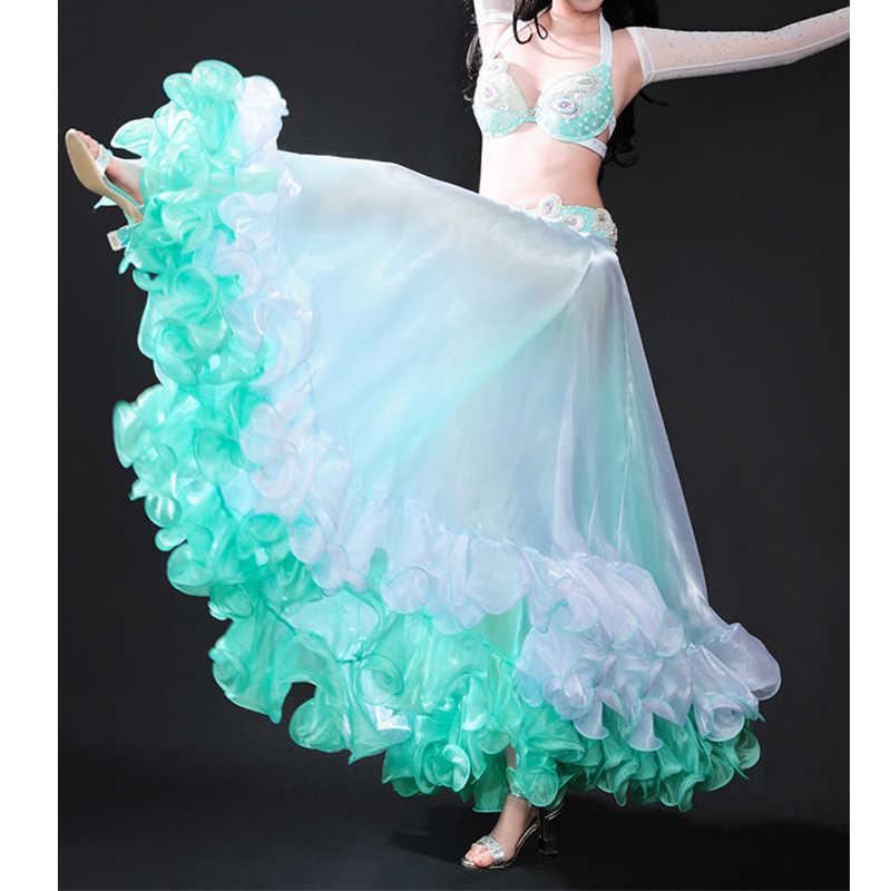 adf3fa1ca 2019 traje de danza del vientre Waves falda vestido con falda con abertura  Rio carnaval Bollywood