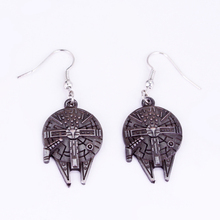 STAR WARS Millennium Falcon Earring Spacecraft Vintage Style Earrings for Woman Christmas Gift Star Wars Long Earrings