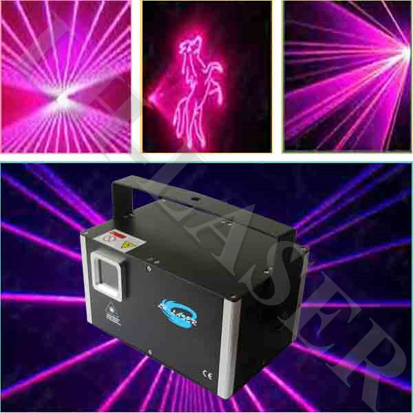 Lh-sam1000 Dmx512 Ilda Interface 1000mw Rose Color Programable Disco Laser Lighting For Clubs Or Night Party Commercial Lighting