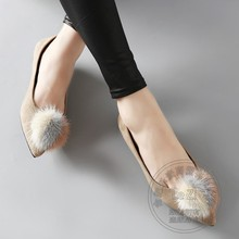Princess Decoration IT Girl China Shoes Cute Spell Color Soft Leather Frosted Apricot Ball Designer Shoes Women's Shoes