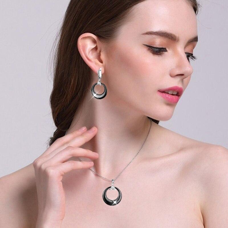 Μαύρο λευκό σκουλαρίκια & κρεμαστό - Κοσμήματα μόδας - Φωτογραφία 3