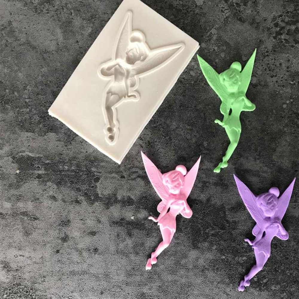 Hot Childhood Flower Fairy Silicone Mold Gumpaste Chocolate Clay Candy Molds Fondant Cake Decorating Tools DIY