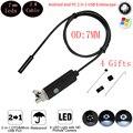 7 мм Мини Micro USB Android Телефон OTG Камеры Эндоскопа 2 М кабель IP67 Водонепроницаемый Змея Труба Труба Инспекции 480 P HD IP камера