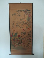 Home Wall Decoration Painting Chinese Old Paper Scroll Painting Hundred Birds And Phoenix