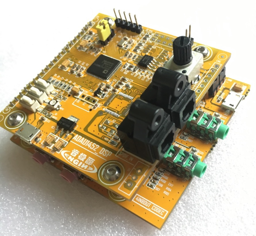 ADAU1452_DSP development board, learning board DSP board +CODEC-in Electronics Stocks from Electronic Components & Supplies