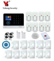 Yobang безопасности IOS и Android приложение управления 8 переключение языка ЖК дисплей сенсорная клавиатура Беспроводная GSM сигнализация системы
