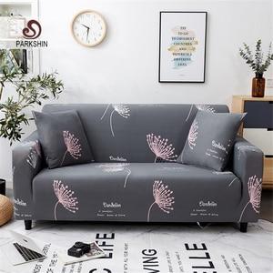 Image 1 - Parkshin موضة زهرة أغطية غطاء أريكة شاملة للجميع الاقسام مطاطا غطاء أريكة كامل أريكة منشفة 1/2/3/4 مقاعد