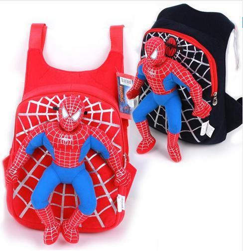 2017 Nuevo 3D Spiderman bolso de escuela Niños mochila Kids niños de dibujos animados Mochilas y bolsas para el colegio mochilas niño infantil escolar mochilas
