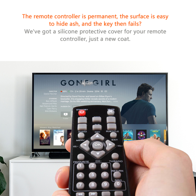WITUSE Silicone silikon Cover Case For mi apple tv Hisense Konka Haier TV Air Conditioner Remote Control sale sell-out