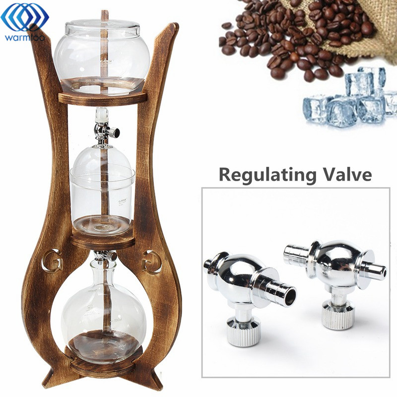 Cold Drip Iced Coffee Maker Espreeo Brew Dutch Machine 600ml 6 Cups Glass Pot Jug Wooden Tower Home Kitchen Coffee Tool Supplies hot coffee pot coffee drip 700ml